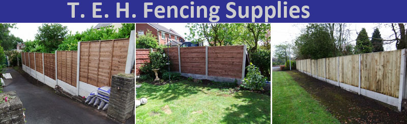 Heavy Duty Waney Lap Wooden Fencing Panels from T.E.H. Fencing Supplies on the border of Congleton in Cheshire, and Stoke on Trent in Staffordshire.